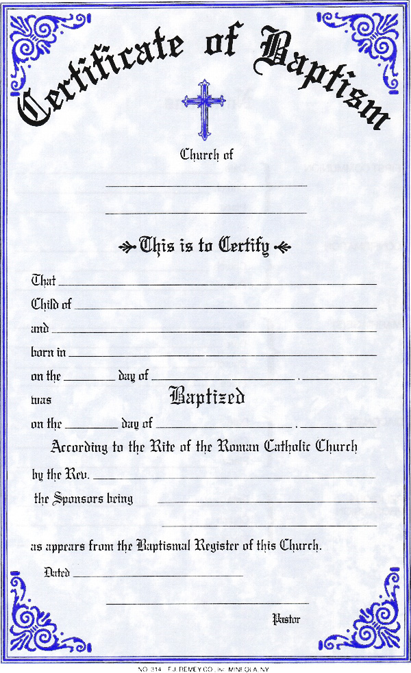sacramental certificates st mary s basilica