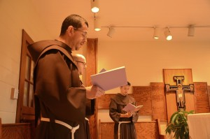 Friars at Prayer at St. Elizabeth Friary