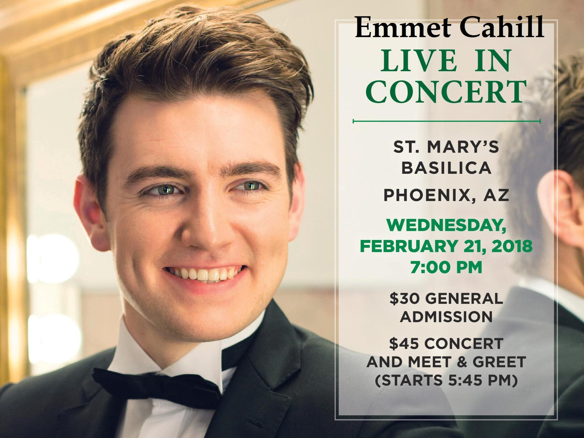 Emmet cahill concert st marys basilica ireland most exciting young tenor emmet cahill a well known member of celtic thunder is back on a nationwide tour of the united states m4hsunfo